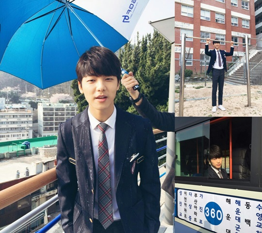 "Kang Min Hyuk Is All Smiles on the Set of ""Entertainer"""