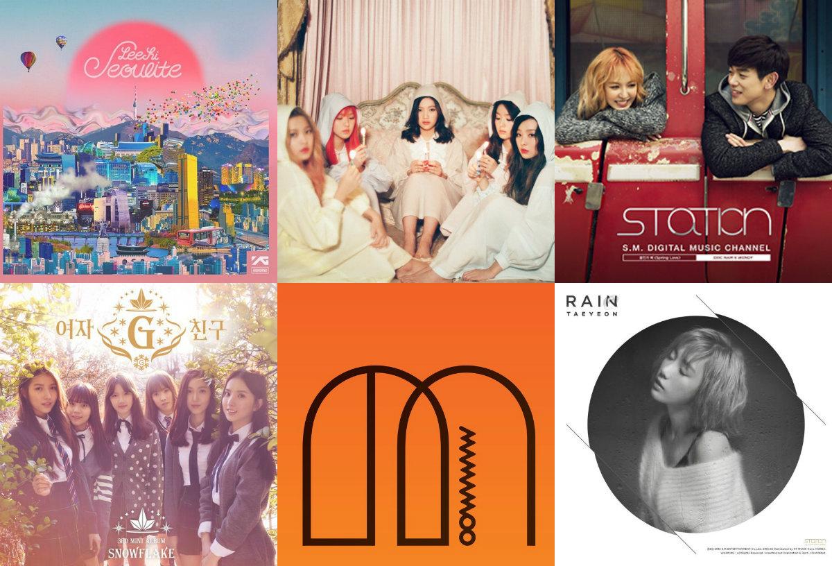 Weekly K-Pop Music Chart 2016 – April Week 1