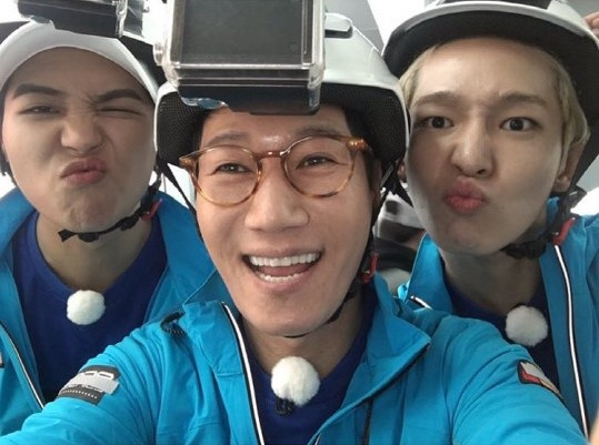 "Ji Suk Jin Reveals Cute Selfie With WINNER's Song Mino and Nam Tae Hyun From ""Running Man"" Filming"