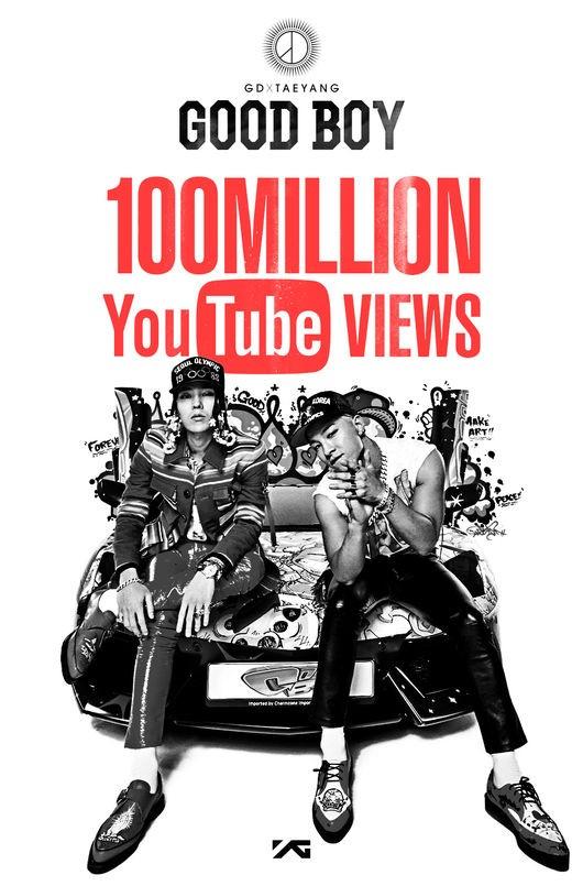 "G-Dragon and Taeyang's ""Good Boy"" Music Video Surpasses 100 Million Views on YouTube"
