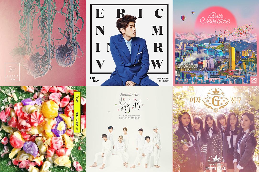 Weekly K-Pop Music Chart 2016 – April Week 3