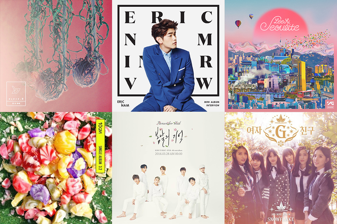 Weekly K-Pop Music Chart 2016 – April Week 3