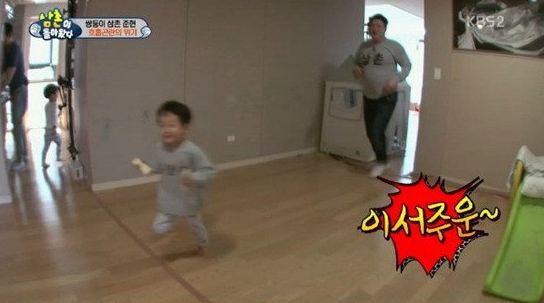 "Seo Jun and Seo Eon Prove to Be a Difficult Pair to Babysit on ""The Return of Superman"""