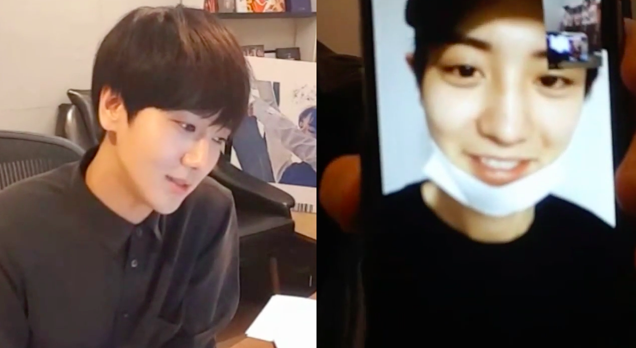 Watch: EXO's Chanyeol Congratulates Super Junior's Yesung on Solo Debut During V App Live Show