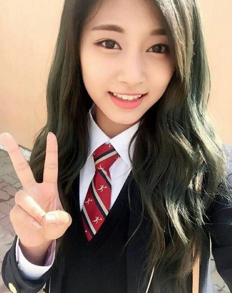 TWICE's Tzuyu Snaps Cute Selfie on First Day of High School