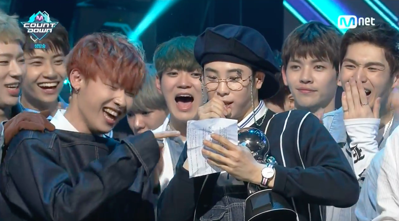 """Block B Grabs 2nd Win for """"Toy"""" on """"M!Countdown,"""" Performances by Yesung, Jung Eun Ji, GOT7, and More"""