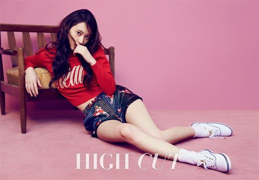 f(x)'s Krystal Looks Lovely in Pink for High Cut Magazine
