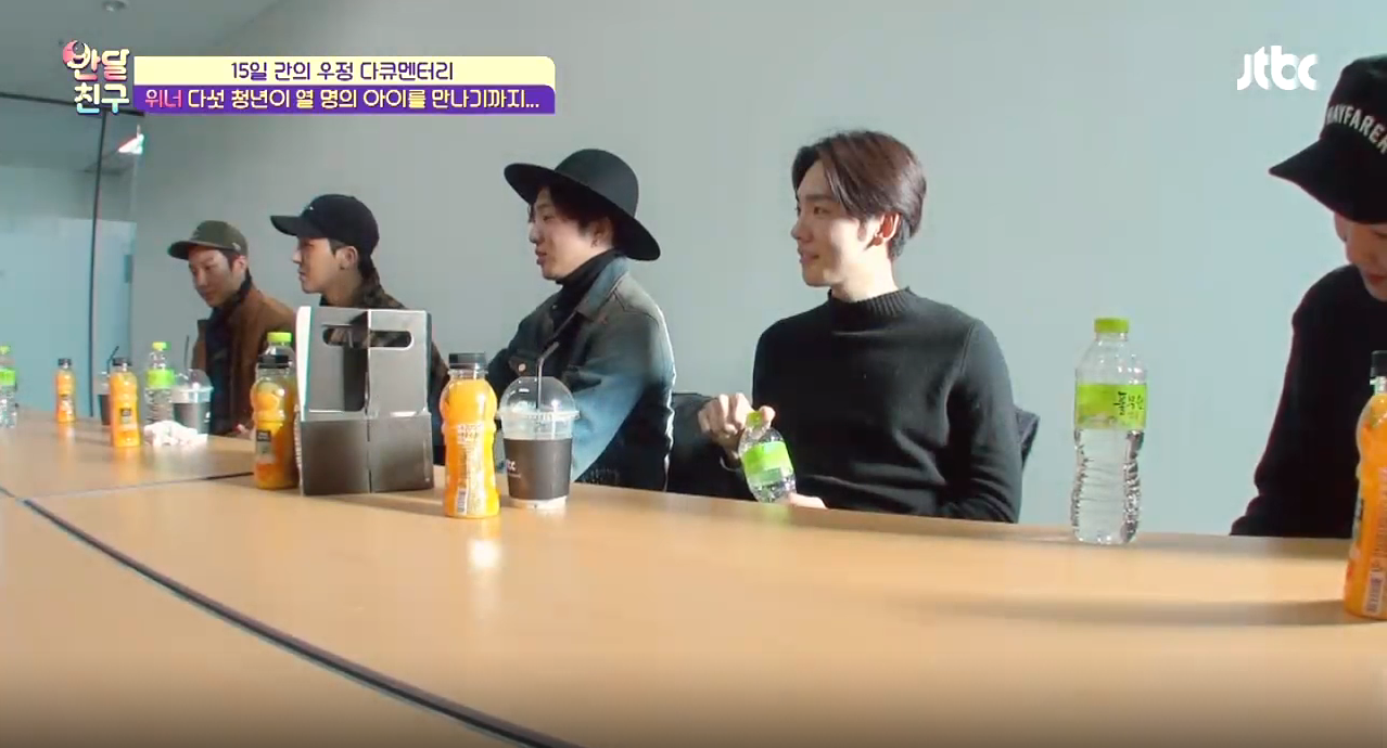 "WINNER Reflects on Their Difficult Trainee Days on ""Half-Moon Friends"""