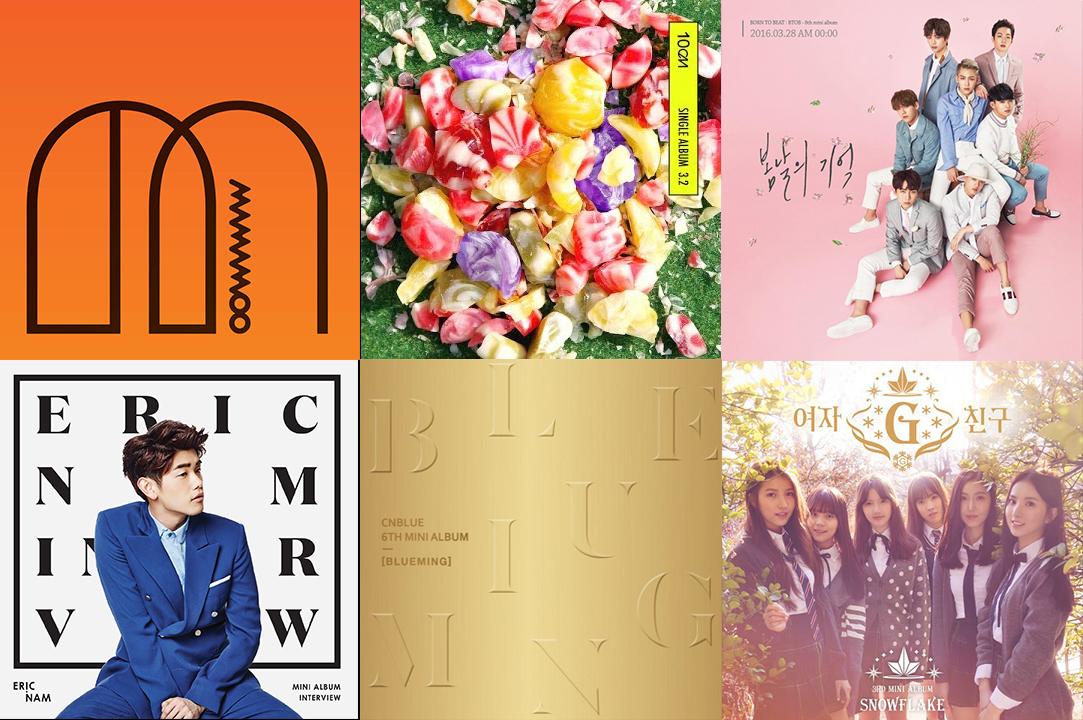 Weekly K-Pop Music Chart 2016 – April Week 4