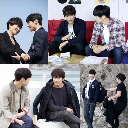 """Entertainer"" Reveals Ji Sung and Kang Min Hyuk's Bromance on Set"