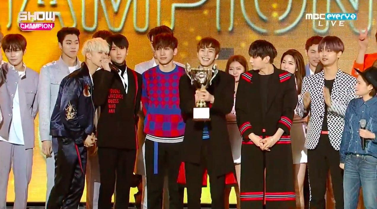 "Watch: VIXX Takes 2nd Trophy For ""Dynamite"" On ""Show Champion,"" Performances By Yesung, Jung Eun Ji, NCT U, And More"