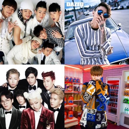 2PM, Jay Park, Block B, Zico
