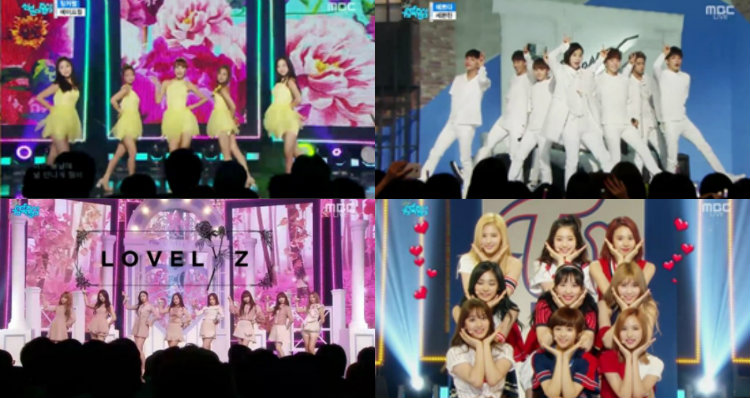"""Watch: SEVENTEEN, TWICE, Lovelyz, April, And More On """"Music Core"""""""