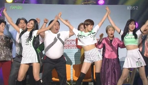 """TWICE's Tzuyu, Jungyeon, And Nayeon Make A Surprise Appearance On """"Gag Concert"""""""
