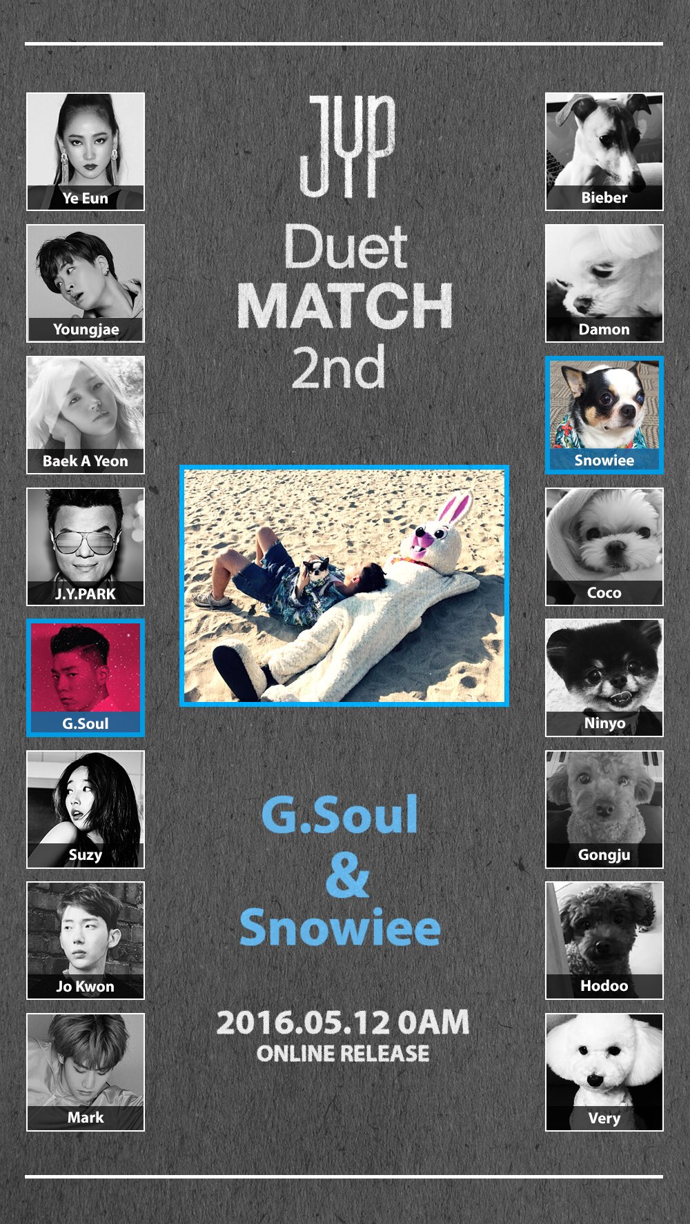 Update: JYP Entertainment Announces 2nd Duet Will Feature G.Soul And His Pet Dog Snowiee