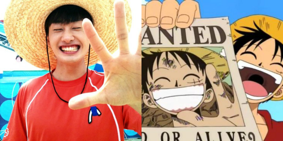 super juniior eunhyuk monkey d. luffy one piece