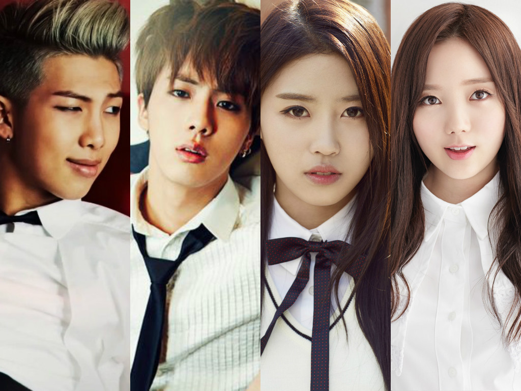 BTS Rap Monster Jin Lovelyz Kei Mijoo