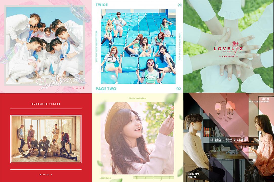 Weekly K-Pop Music Chart 2016 – May Week 2