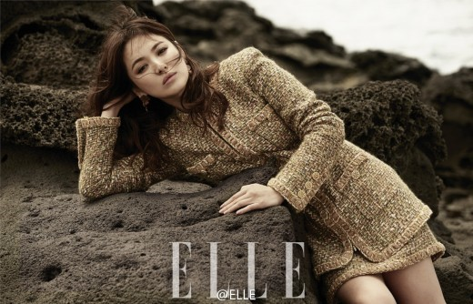 Song Hye Kyo Poses Like A Goddess On Jeju Island For Elle Magazine