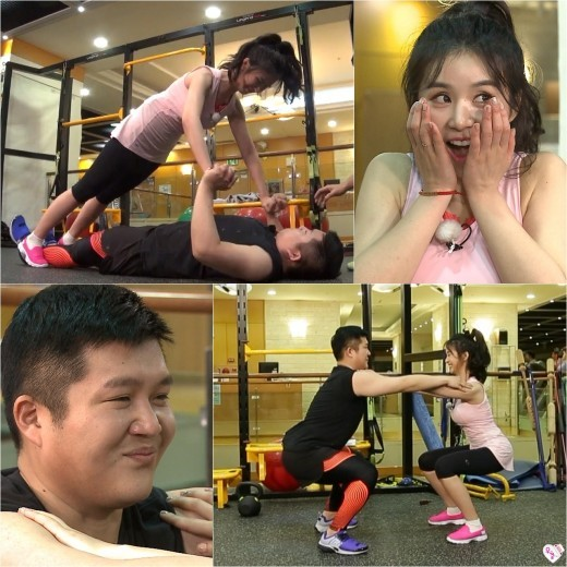 """Cao Lu And Jo Se Ho Hit The Gym Together On """"We Got Married"""""""