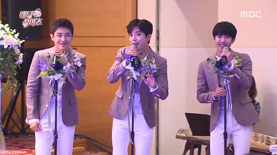 "Watch: Kwanghee, Jung Yong Hwa, and Lee Joon Put On Surprise Performance As The ""Wedding Boys"""