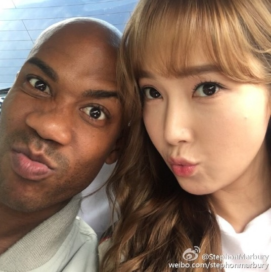 Jessica And Basketball Player Stephon Marbury Snap Cute Shots Together