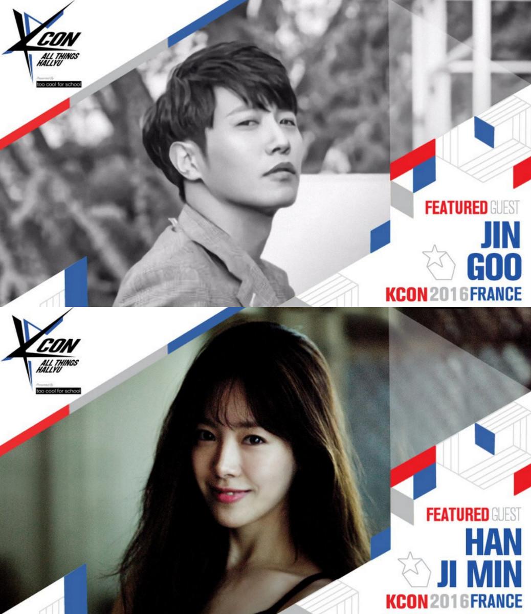 Jin Goo and Han Ji Min Head To France for KCON 2016