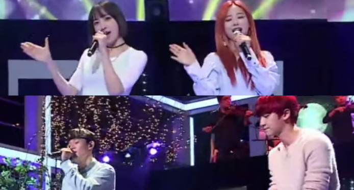 """Watch: EXO and EXID Members Face Off With Impressive Performances On """"Sugar Man"""""""