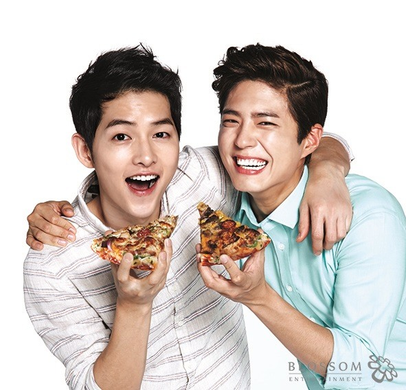 Song Joong Ki And Park Bo Gum Are The New Faces Of Domino's Pizza   Soompi