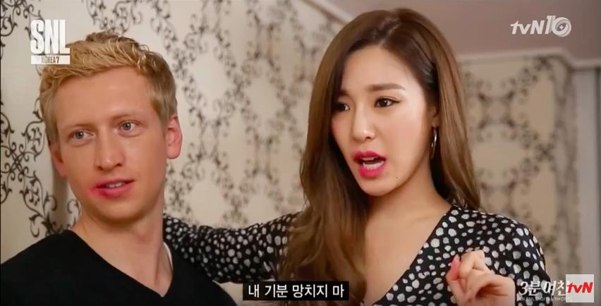 "Watch: Tiffany Is A Crazy American Girlfriend In ""SNL Korea"" Skit"