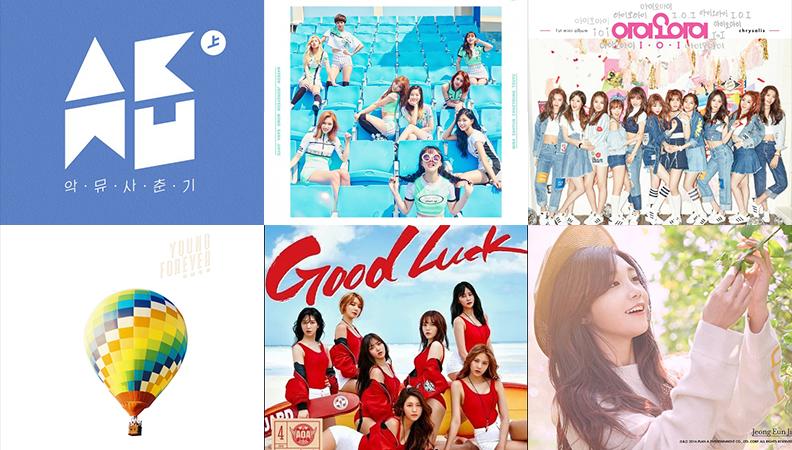 Weekly K-Pop Music Chart 2016 – June Week 1