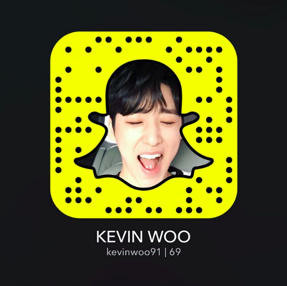 U-KISS's Kevin Woo Joins Snapchat