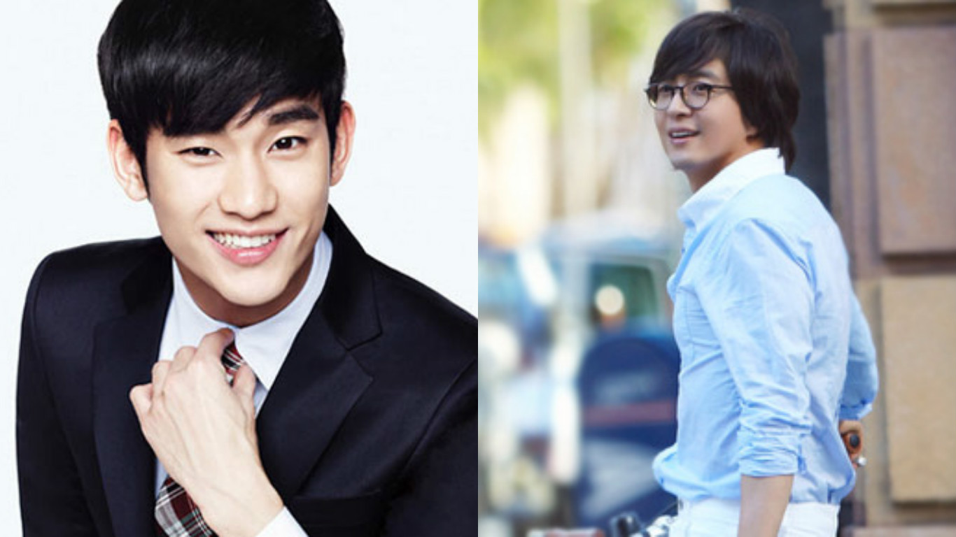 Bae Yong Joon Stops By The Set Of Kim Soo Hyun's New Film