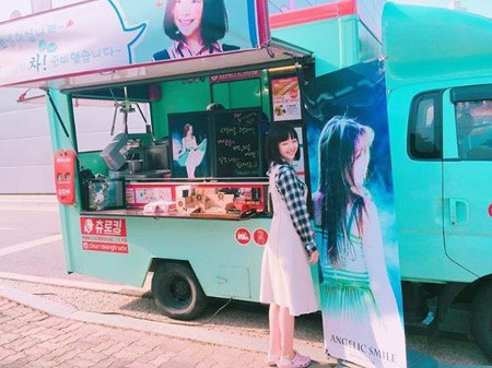 Girl's Day's Minah Thanks Fans For Snack Truck In Support Of Her Drama