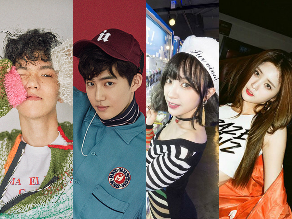 """EXO's Baekhyun, Suho And EXID's Hani, Junghwa Confirmed As """"Inkigayo"""" Special MCs"""
