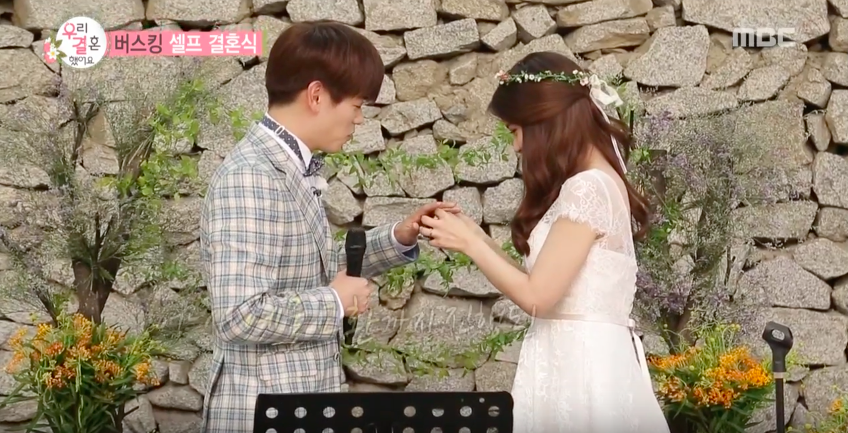 """Watch: Eric Nam and MAMAMOO's Solar Exchange Rings In Busking Ceremony On """"We Got Married"""""""
