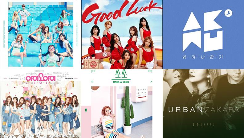 Weekly K-Pop Music Chart 2016 – June Week 2