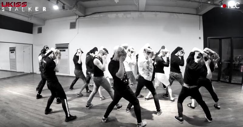 "Watch: U-KISS Tears Up The Studio In Dance Practice Version Of ""Stalker"""