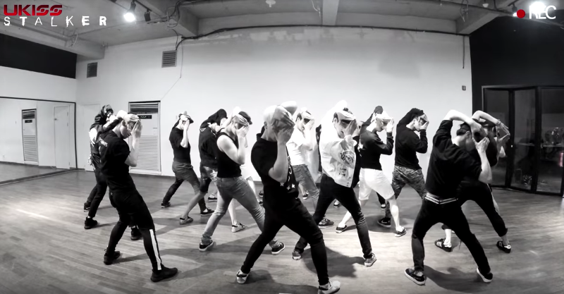 "Watch: U-KISS Tears Up The Studio In Dance Practice Version Of ""Stalker"""