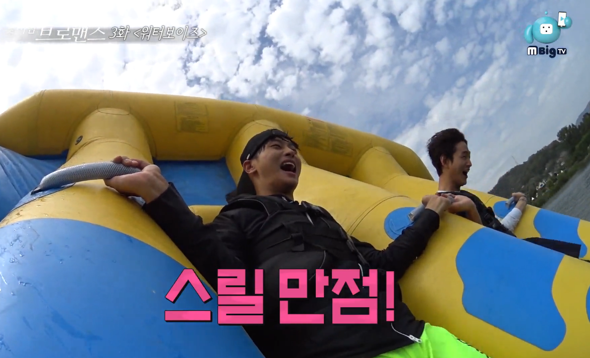 """Watch: VIXX's N And Lee Won Geun Attempt Water Sports In """"Celebrity Bromance"""""""