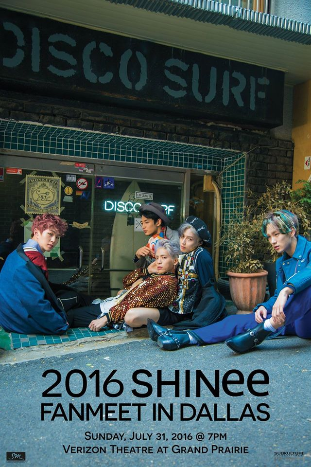 SHINee To Hold Their Second U.S. Fanmeet In Dallas Next Month