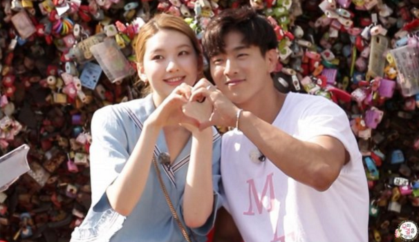 "Jota and Kim Jin Kyung Go On A Lovely Namsan Tower Date On ""We Got Married"""