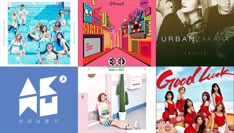 Weekly K-Pop Music Chart 2016 – June Week 3