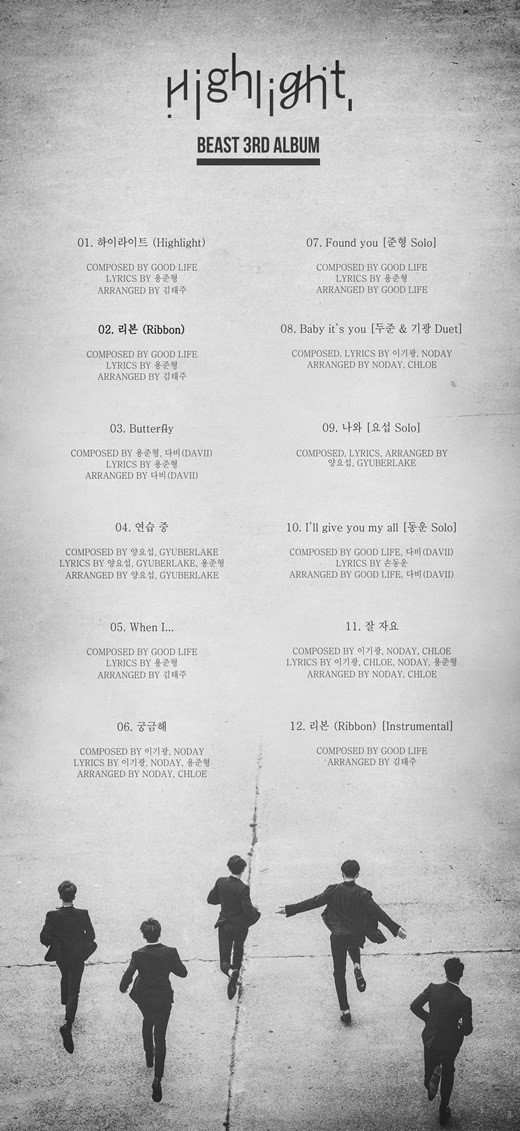 BEAST Highlight Tracklist