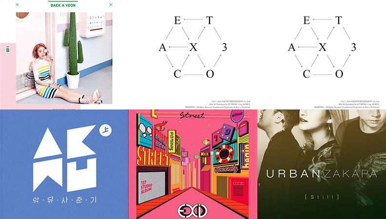 Weekly K-Pop Music Chart 2016 – June Week 4