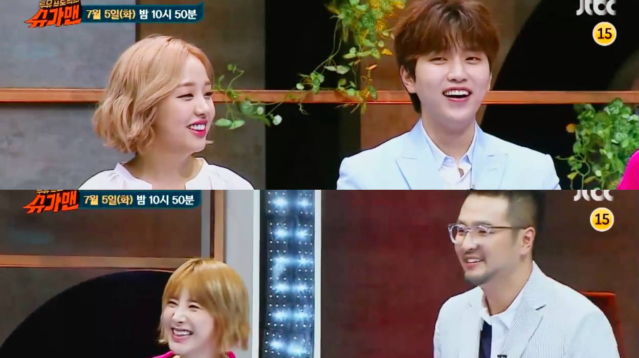 "Baek A Yeon And B1A4's Sandeul To Face Off Against Seo In Young And Kim Tae Woo On ""Sugar Man"""