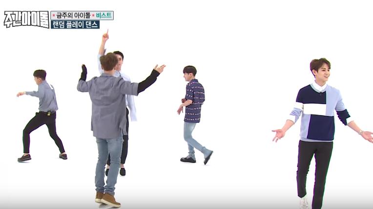 "Watch: BEAST Puts The Random In Random Play Dance On ""Weekly Idol"""
