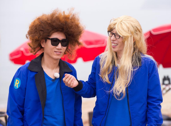 Image of: Lee Kwang Watch The Latest Episode Of running Man Below Gifer Running Man Cast Members Transform With Hilarious Wigs In Stills