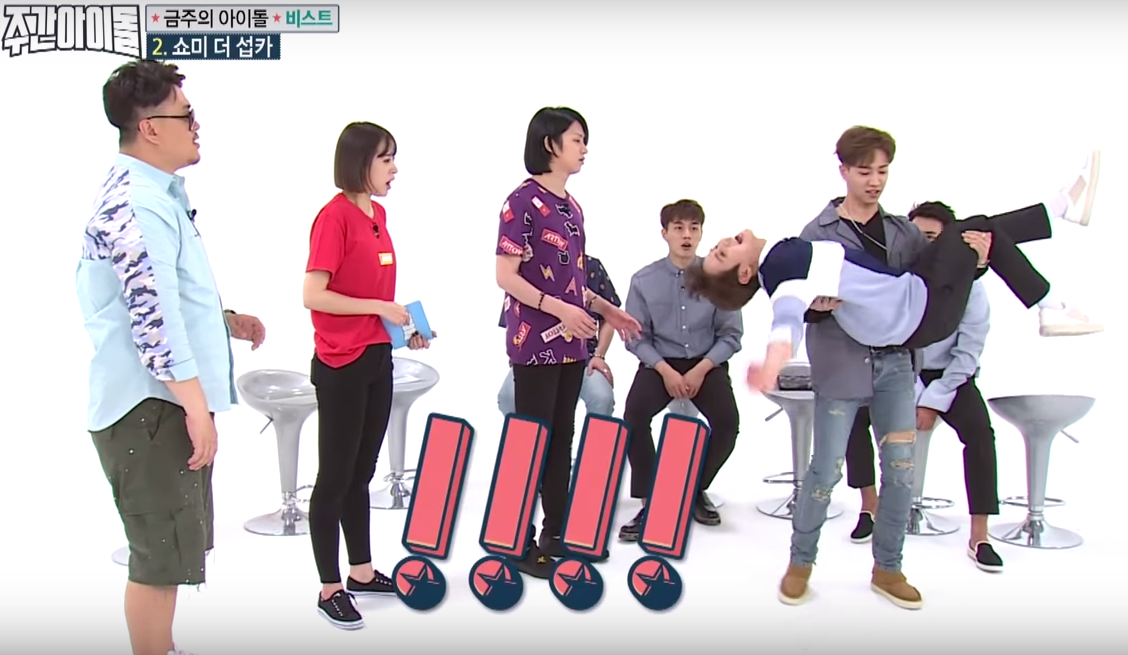 Watch: BEAST Tries To Prove Their Strength While Carrying Yoseob Like A Princess