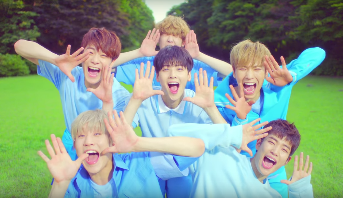 "Watch: ASTRO Is Bubbly And ""Breathless"" In New MV Co-Starring I.O.I's Choi Yoojung"